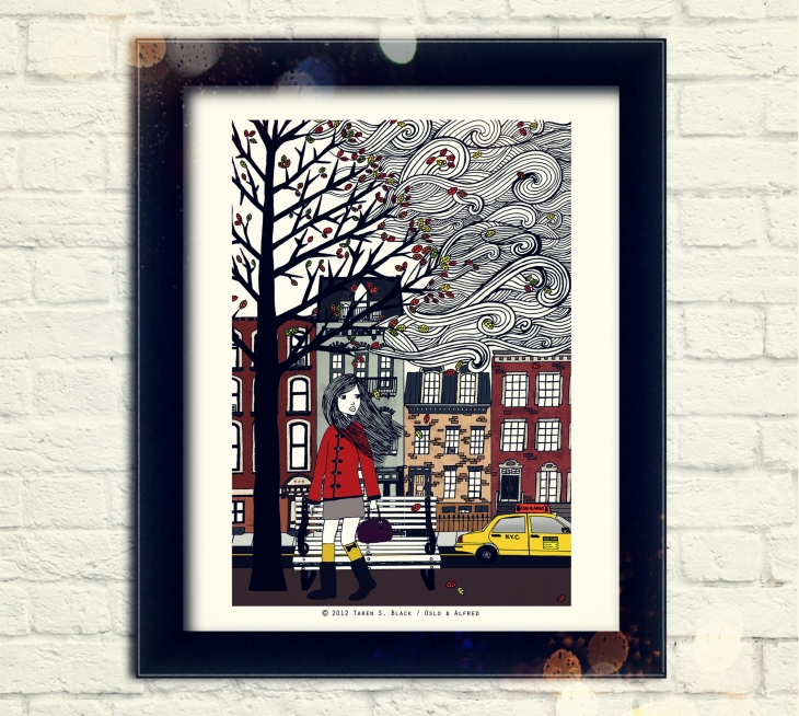 Autumn in New York etsy listing