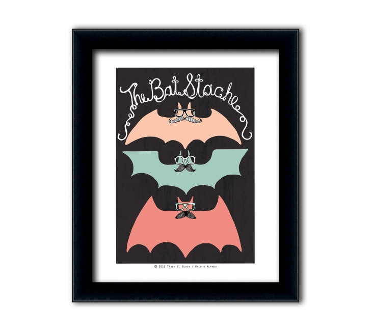 The Bat Stache etsy listing